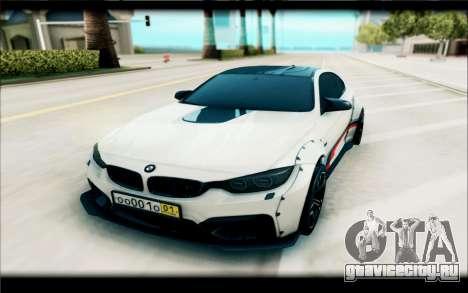 BMW M4 Perfomance для GTA San Andreas вид справа