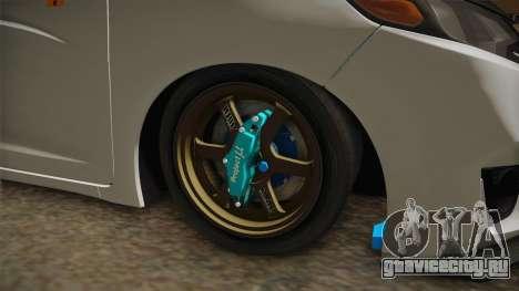 Honda Jazz GK FIT RS v2 для GTA San Andreas вид сзади