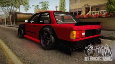 BMW M3 E30 Rocket Bunny для GTA San Andreas вид сзади слева