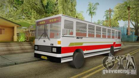 Huanghai DD6111CT Suburban Bus Red для GTA San Andreas