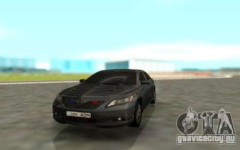 Toyota Camry Sport для GTA San Andreas вид сзади
