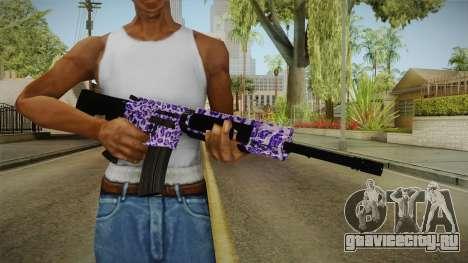 Tiger Violet M4 для GTA San Andreas третий скриншот