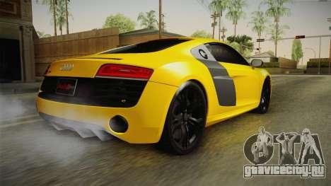 Audi R8 V10 Plus Coupe для GTA San Andreas вид слева