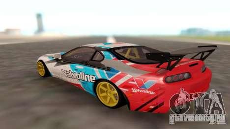 Toyota Supra для GTA San Andreas вид сзади слева