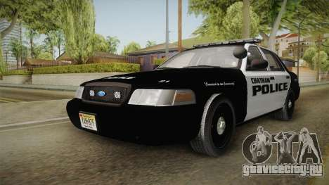 Ford Crown Victoria 2009 Chatham, New Jersey PD для GTA San Andreas