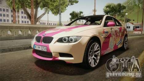 BMW M3 E92 2012 Itasha PJ для GTA San Andreas двигатель