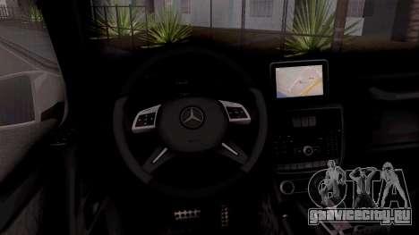 Mercedes-Benz G65 AMG BIH Police Car для GTA San Andreas вид изнутри