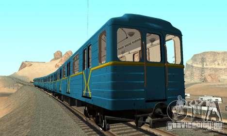 Метросостав типа Ем Киевский для GTA San Andreas вид сбоку