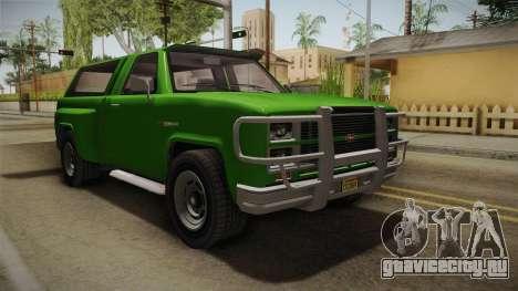 GTA 5 Vapid Bobcat S для GTA San Andreas вид сзади слева