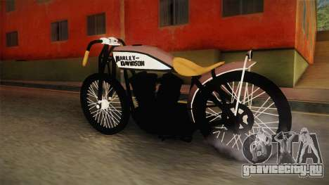 Harley-Davidson V Twin Racer 1916 для GTA San Andreas вид сзади слева