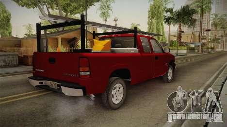 Chevrolet Silverado Work Truck 2001 для GTA San Andreas вид сзади слева