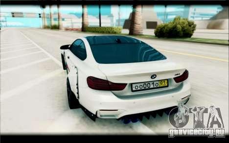 BMW M4 Perfomance для GTA San Andreas вид сзади