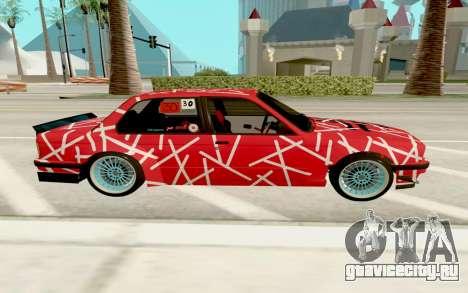 BMW E30 для GTA San Andreas вид слева