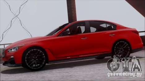 Infinity Q50 для GTA San Andreas вид сзади слева