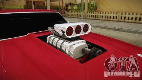 Chevrolet Chevelle SS 1970 Drag Racing Tuned для GTA San Andreas вид изнутри