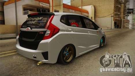 Honda Jazz GK FIT RS v2 для GTA San Andreas вид сзади слева