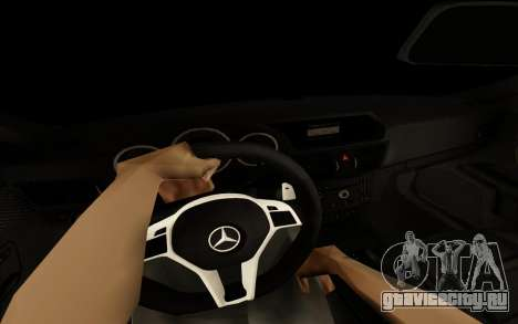 Brabus S63 для GTA San Andreas вид изнутри