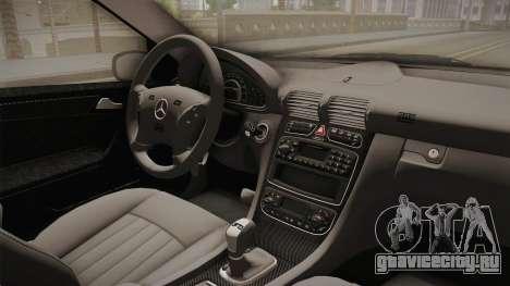 Mercedes-Benz C32 AMG Stanced для GTA San Andreas вид изнутри