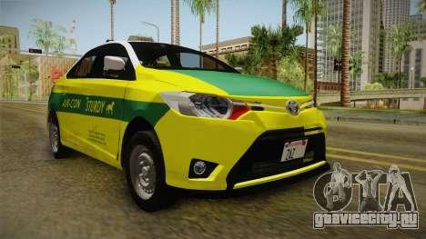 Toyota Vios Sturdy Philippine Taxi 2014 для GTA San Andreas вид сзади слева
