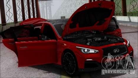 Infinity Q50 для GTA San Andreas двигатель