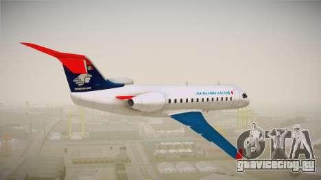 GTA 5 Buckingham Starjet Aeromexico для GTA San Andreas вид справа