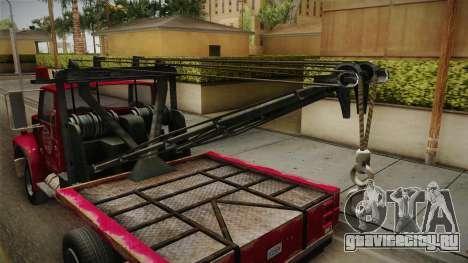 GTA 5 Vapid Towtruck Large Worn для GTA San Andreas вид изнутри