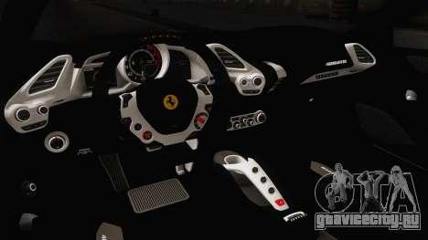 Ferrari 488 Stock для GTA San Andreas вид изнутри