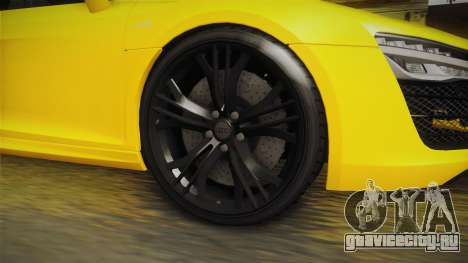 Audi R8 V10 Plus Coupe для GTA San Andreas вид сзади