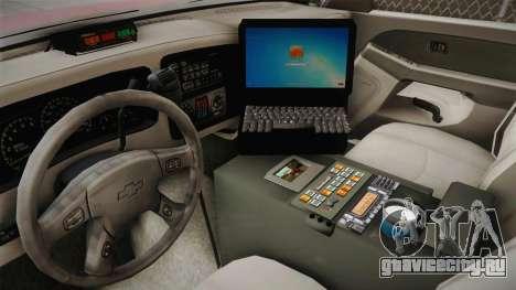 Chevrolet Silverado Work Truck 2001 для GTA San Andreas вид изнутри