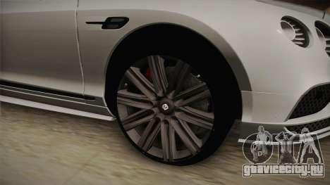 Bentley Continental GT Speed 2016 для GTA San Andreas вид сзади