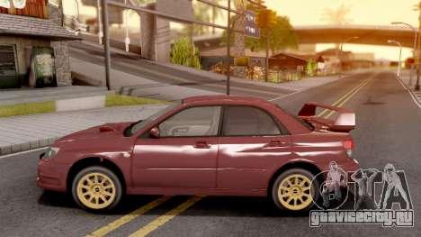 Subaru Impreza WRX STI 2006 для GTA San Andreas вид слева
