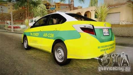 Toyota Vios Sturdy Philippine Taxi 2014 для GTA San Andreas вид слева