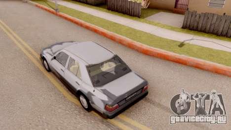 Mercedes Benz W124 для GTA San Andreas вид сзади