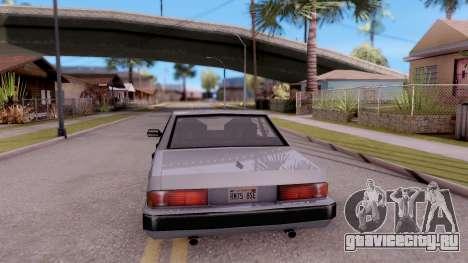 VCS Sentinel для GTA San Andreas вид сзади слева