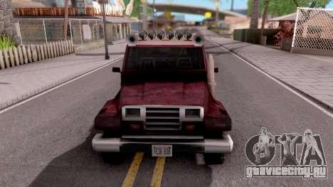 Mesa Off-Road для GTA San Andreas вид изнутри
