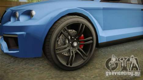 GTA 5 Enus Huntley Coupè для GTA San Andreas вид сзади
