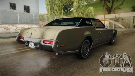 Lincoln Continental Mark IV 1972 для GTA San Andreas вид сзади слева