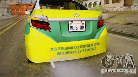 Toyota Vios Sturdy Philippine Taxi 2014 для GTA San Andreas салон