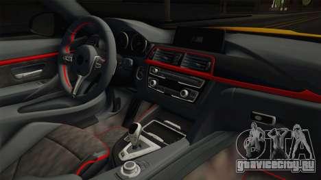BMW M4 F82 Stance для GTA San Andreas вид изнутри