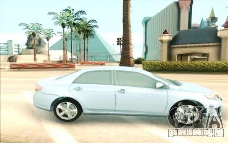 Toyota Corolla E150 для GTA San Andreas вид слева