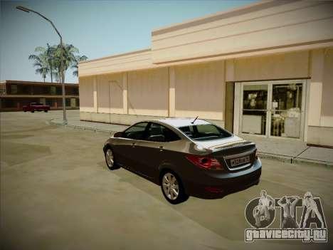 Hyundai Solaris Karelian Edition для GTA San Andreas вид изнутри