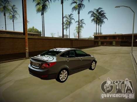 Hyundai Solaris Karelian Edition для GTA San Andreas вид слева