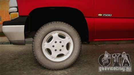 Chevrolet Silverado Work Truck 2001 для GTA San Andreas вид сзади