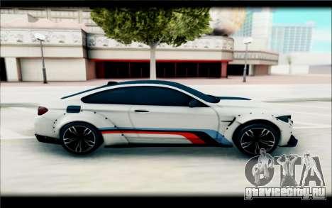 BMW M4 Perfomance для GTA San Andreas вид сзади слева