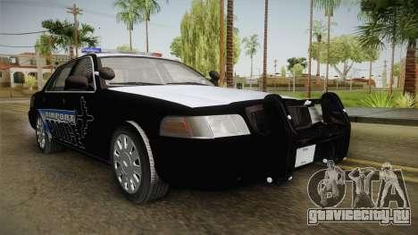 Ford Crown Victoria 2009 Airport Police для GTA San Andreas вид справа