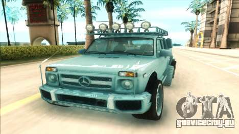 Lada Niva 6x6 для GTA San Andreas вид сзади