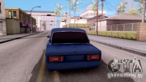 ВАЗ 2106 БПАН для GTA San Andreas вид сзади слева