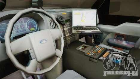 Ford Expedition 2013 SAWPD для GTA San Andreas вид изнутри