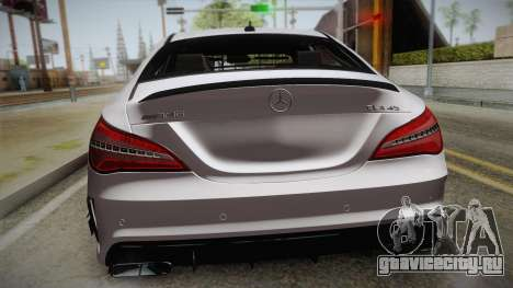 Mercedes-Benz CLA45 AMG 2017 для GTA San Andreas вид сзади