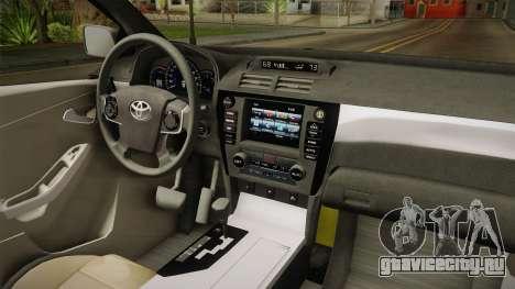 Toyota Vios Sturdy Philippine Taxi 2014 для GTA San Andreas вид изнутри